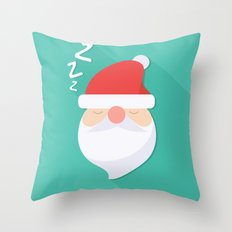 Wake up Santa Throw Pillow