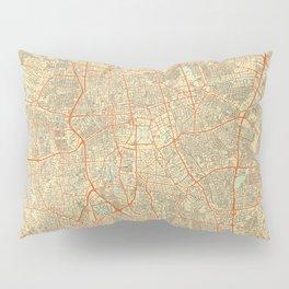 Jakarta Map Retro Pillow Sham
