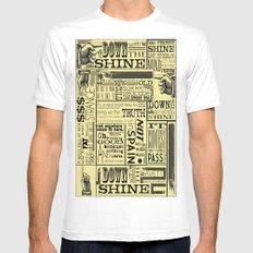 Down with the Shine MEDIUM Mens Fitted Tee White