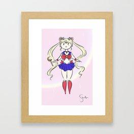 Cute Sailor Moon Framed Art Print