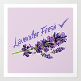 Lavender Fresh Pattern (powder pink) Art Print