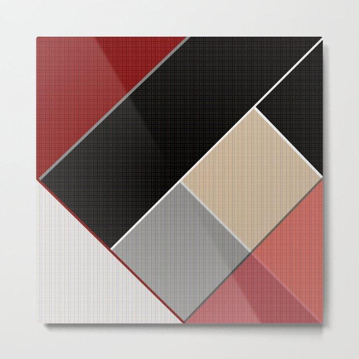 Brown grey abstract pattern . Metal Print