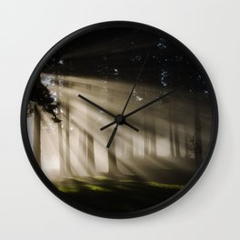 Boring Forest Wall Clock