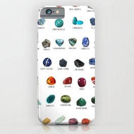 Crystals and their names iPhone Case
