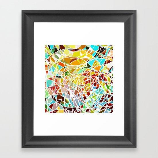 sunrise colors Framed Art Print