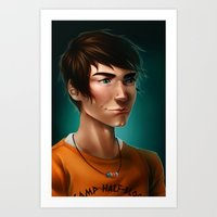 percy jackson Art Prints featuring Percy Jackson by spookzilla