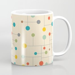 Mid-Century Dots Pattern Coffee Mug
