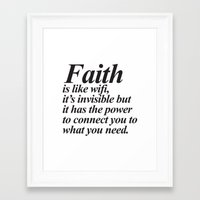 faith Framed Art Prints featuring Faith. by Sara Eshak