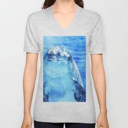 dolphin, sea, marine animals Unisex V-Neck