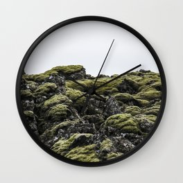 Lava Rocks Wall Clock