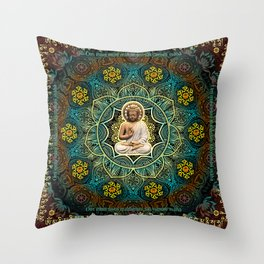 Shakyamuni Buddha - Enlightenment, Peace and Happiness Throw Pillow