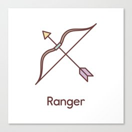 Cute Dungeons and Dragons Ranger class Canvas Print