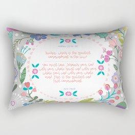The Greatest Commandment | Matthew 22:36-38 Rectangular Pillow