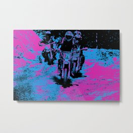 """Born to Race"" Motocross Dirt-Bike Champion Racer Metal Print"