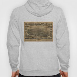 Vintage Pictorial Map of Sacramento CA (1890s) Hoody