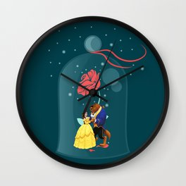 Beauty and the Beast Rose Wall Clock