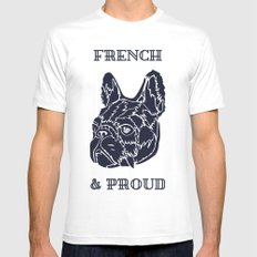 French & Proud MEDIUM White Mens Fitted Tee