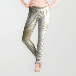 Palm Leaves - Gold Cali Vibes #6 #tropical #decor #art #society6 Leggings