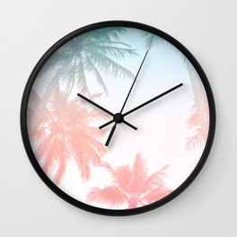 Palm Trees - Sunset Colors Wall Clock