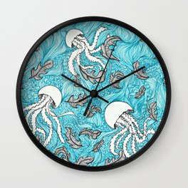 Jelly Leaves Wall Clock