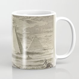 Egyptian PYRAMIDS Giza Cairo Egypt 17th century Engraving - Khufu Menkaure Khafre - Great Pyramid Seven Wonders - Landscape Home Decor Wall Coffee Mug