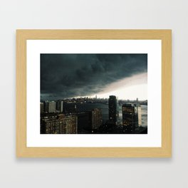 brace for the storm Framed Art Print