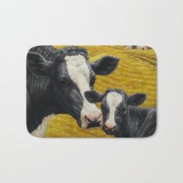 Holstein Cow and Cute Calf Bath Mat