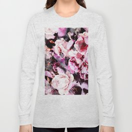 Roses in abstraction Long Sleeve T-shirt