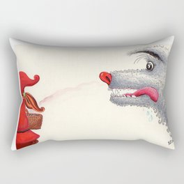 The wolf and the Little Red Riding Hood Rectangular Pillow