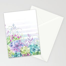 Summer Succulents Stationery Cards