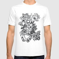 See Eden - linework White SMALL Mens Fitted Tee