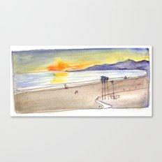 Golden Light at the Beach Canvas Print