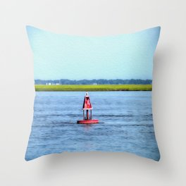 The Little Red Buoy Throw Pillow