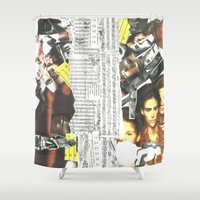 persona Shower Curtains featuring Persona Solara by Antimatéria