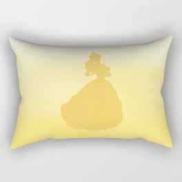 Beauty Silhouette - Beauty and the Beast Rectangular Pillow