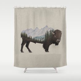 The Land of the Bison Shower Curtain
