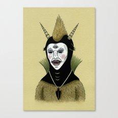Creature with Black Amulet  Canvas Print