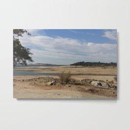 dry lake Metal Print