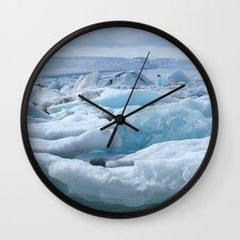 Jökulsarlon Iceland Wall Clock
