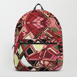 Fragmented Geometric Abstract Design Backpack