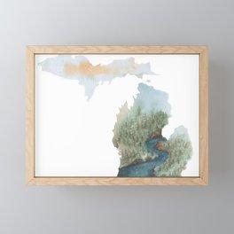 Michigan Watercolor Framed Mini Art Print