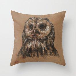 Owl Sketch Throw Pillow