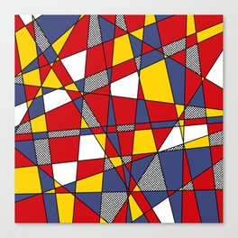 Red, Yellow & Blue Abstract Canvas Print