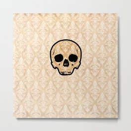 Golden and Royal Skull Metal Print