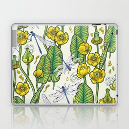 yellow water lilies and dragonflies Laptop & iPad Skin