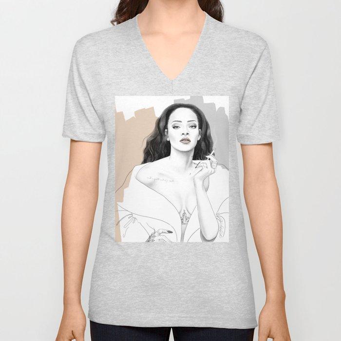 Rihanna Unisex V-Neck