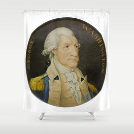 Vintage George Washington Portrait Painting (1800) Shower Curtain