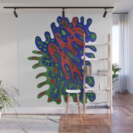 Cellular Creation. Meditative iFi Art. Stress and Pain Free with MYT3H. Fire. Water. Wood. Wall Mural