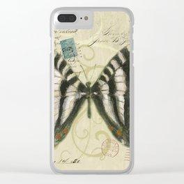Zebra Butterfly Clear iPhone Case
