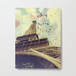 Paris is Flying Metal Print